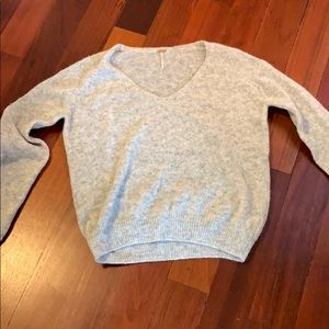 Free people heather gray sweater